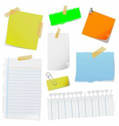 note papers vector image vector image