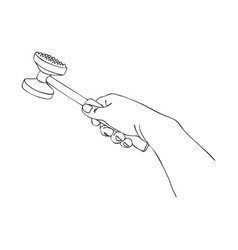 cooking hand with meat tenderizer vector image
