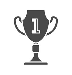 first place cup isolated on white icon vector image vector image