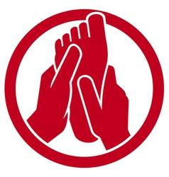 foot massage symbol vector image vector image