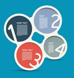 Four Steps Circle Infographic Layout - Template vector image