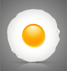 Fried egg icon vector image vector image