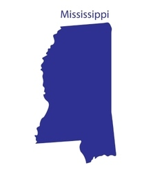 United States Mississippi vector image vector image