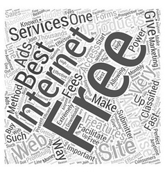 Free internet advertising Word Cloud Concept vector image