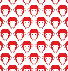 Monkey seamless pattern Head of animal background vector image