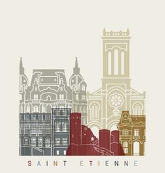 saint etienne skyline poster vector image