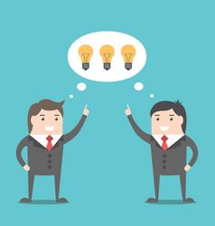 businessmen sharing ideas vector image