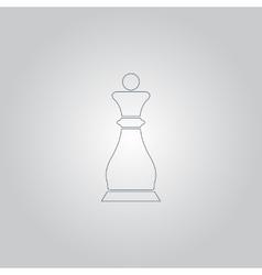 Chess queen icon vector image vector image