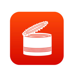 open tin can icon digital red vector image