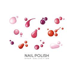 realistic nail polish set vector image vector image