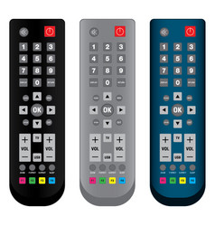 remote control in colorful isolated on white vector image vector image