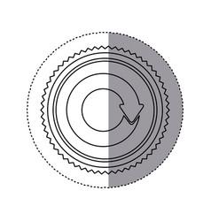 Sticker monochrome with circular reuse symbol vector