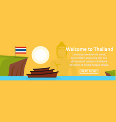 welcome to thailand banner horizontal concept vector image vector image