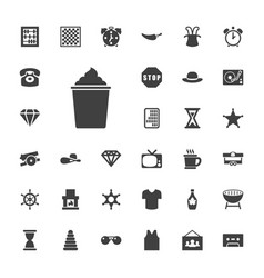 33 vintage icons vector
