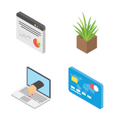 3d worldwide network icons pack vector image