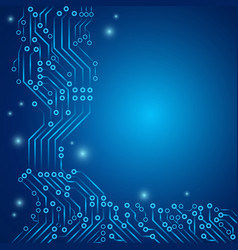 Abstract background with printed circuit design vector