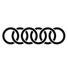 Abstract interlace interweave geometric circle vector