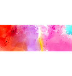 Abstract surface bright colorful watercolor vector