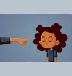 Adult scolding sad unhappy child vector