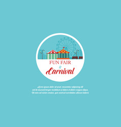 Amusement park and carnival banner vector