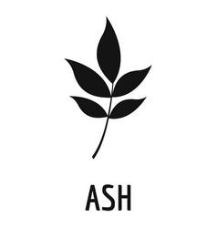 Ash leaf icon simple black style vector