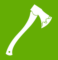 axe in blood icon green vector image