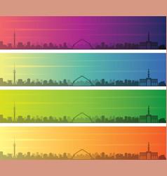 Baghdad multiple color gradient skyline banner vector