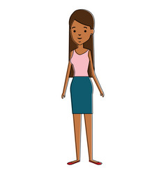 beautiful businesswoman avatar character vector image