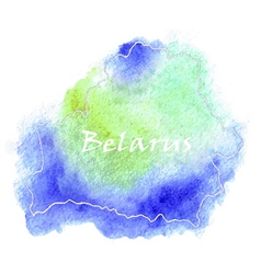 Belarus watercolor map vector image