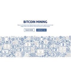 Bitcoin mining banner design vector