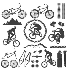 BMX Decorative Graphic Icons Set vector image