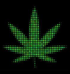 cannabis halftone icon vector image