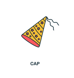 cap icon creative 2 colors design fromcap icon vector image