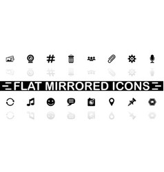 chat - flat icons vector image