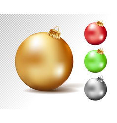 colorful christmas balls set isolated vector image