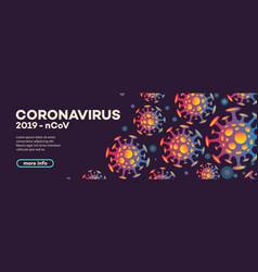 Coronavirus banner with bacteria vector
