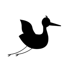 Crane bird icon image vector