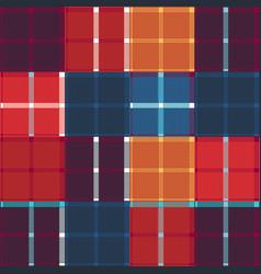 Design tartan square fabric pattern for shirts vector