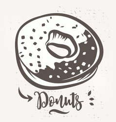 donut poster with cool design stock vector image