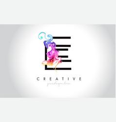 e vibrant creative leter logo design with vector image