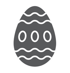 easter egg glyph icon food and easter decoration vector image