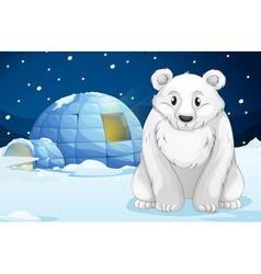 Egloo and bear vector