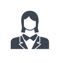 employee woman glyph flat icon vector image