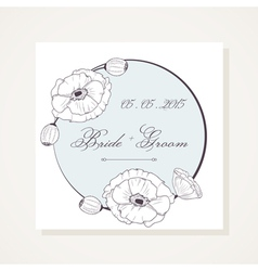 Event frame with outline poppies vector image