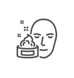 Face cream line icon skin care lotion sign vector
