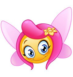 Fairy emoticon vector