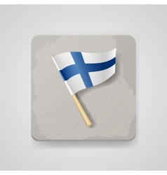 Finland flag icon vector image vector image