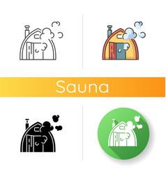 finnish sauna icon vector image