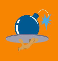 Flat icon on theme humor bomb vector