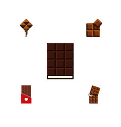 Flat icon sweet set of chocolate wrapper cocoa vector